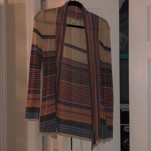 Striped billabong cardigan